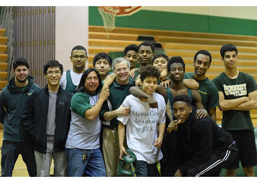 Kennedy+Wrestling+team+after+their+match+against+Poolesville.++Seven+guys+were+hurt+but+they+were+there+to+help+and+support+the+team.++%22As+a+freshman%2C+I+think+sports+aren%27t+easy+but+we+all+work+toward+being+the+best+we+can+be+and+we+do+it+as+friends%2C%22+said+Carlos+Bautista%2C+light+heavy+weight.+