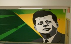 Kennedy Keeps Watch, New Mural by Art Department