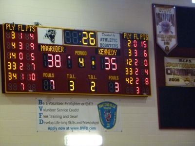 Girls lose to Magruder